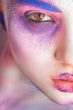 Pintura del maquillaje Foto de archivo libre de regalías