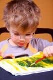 Pintura del muchacho imágenes de archivo libres de regalías