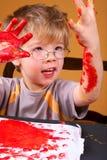 Pintura del muchacho foto de archivo