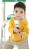Pintura del muchacho del niño Imágenes de archivo libres de regalías