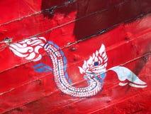 Pintura del Naga en la madera Fotografía de archivo