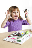 Pintura del niño Foto de archivo libre de regalías