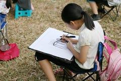 Pintura del niño Imagen de archivo libre de regalías