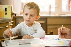 Pintura del niño Foto de archivo