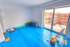 Pintura del nuevo apartamento Imagen de archivo libre de regalías