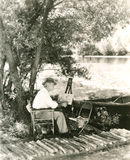 Pintura del paisaje fotografía de archivo libre de regalías