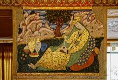 Pintura del palacio de Chehel Sotoun imagen de archivo libre de regalías