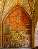 Pintura del palacio de Chehel Sotoun fotos de archivo