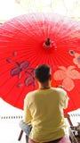 Pintura del paraguas Foto de archivo libre de regalías