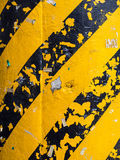 Pintura del peligro en pilar imágenes de archivo libres de regalías