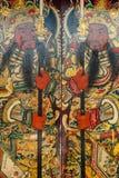 Pintura del protector chino de la puerta del soldado Imagen de archivo
