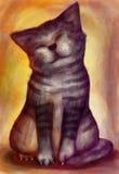 Pintura del Puss Fotos de archivo libres de regalías