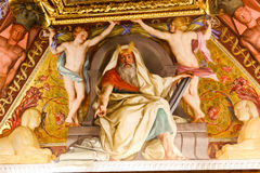 Pintura del renacimiento en el museo del Vaticano foto de archivo