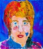 Pintura del retrato de las mujeres principales imagen de archivo