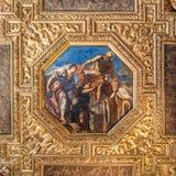 Pintura del techo del palacio de los duxes Foto de archivo libre de regalías