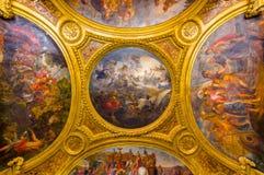 Pintura del techo en Salon de Diane, palacio de imagenes de archivo