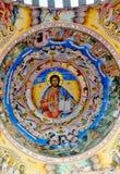 Pintura del tejado en la iglesia del monasterio de Rila Imágenes de archivo libres de regalías