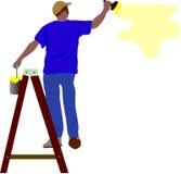 Pintura del trabajador Fotografía de archivo