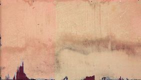 Pintura desigual velha na parede triplex imagens de stock royalty free