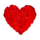 Pintura dibujada mano de la acuarela del ejemplo del corazón de la acuarela Imagen de archivo
