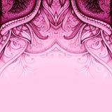 Pintura dibujada mano de la acuarela Floral abstracto Imagenes de archivo