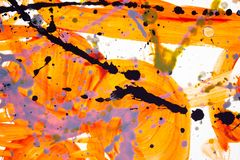 Pintura dibujada mano de la acuarela Fondo del arte abstracto Textura del color E Pintura del punto Pintura de los cepillos Arte ilustración del vector