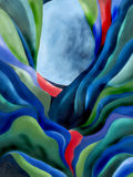 Pintura digital da lua azul Imagem de Stock Royalty Free