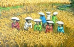Pintura digital de la cosecha asiática Imagen de archivo