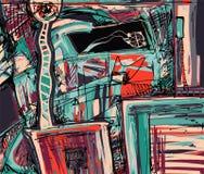 Pintura digital original de la abstracción Imagen de archivo