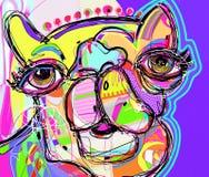 Pintura digital original del retrato del camello - perfeccione al interio ilustración del vector