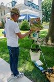 Pintura do ar de Plein - Annapolis, DM Imagem de Stock