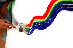 Pintura do arco-íris Fotografia de Stock Royalty Free