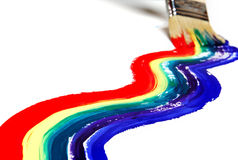 Pintura do arco-íris fotos de stock royalty free