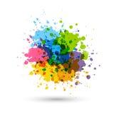 A pintura do arco-íris espirra ilustração royalty free
