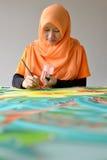 Pintura do Batik Fotografia de Stock