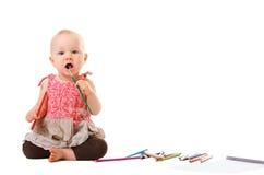Pintura do bebé Imagens de Stock