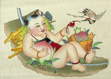 Pintura do camponês Imagem de Stock Royalty Free