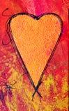 Pintura do coração Imagem de Stock Royalty Free
