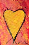Pintura do coração Fotografia de Stock