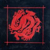 Pintura do dragão ilustração stock