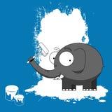 Pintura do elefante Fotos de Stock