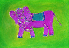Pintura do elefante Foto de Stock Royalty Free