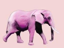 Pintura do elefante cor-de-rosa ilustração stock