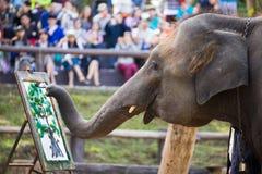 Pintura do elefante no papel Imagem de Stock Royalty Free