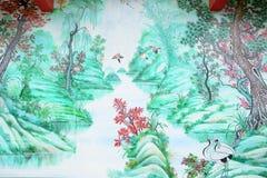 Pintura do estilo chinês Fotos de Stock Royalty Free
