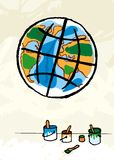 Pintura do globo Imagem de Stock Royalty Free
