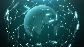 Pintura do globo background 3d animação dada laços sem emenda 4k ilustração royalty free