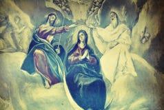Pintura do museu da casa do lugar de nascimento de El Greco de Fodele na ilha da Creta de Grécia fotos de stock royalty free
