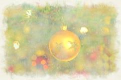 Pintura do Natal ilustração do vetor