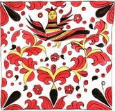 Pintura do ornamento de Sirin Imagens de Stock